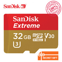 Original SanDisk Memory Card Extreme microSD UHS I microSDHC Flash Card Class10 U3 90MB/S 32GB TF Card C10 High Speed SDSQXNE