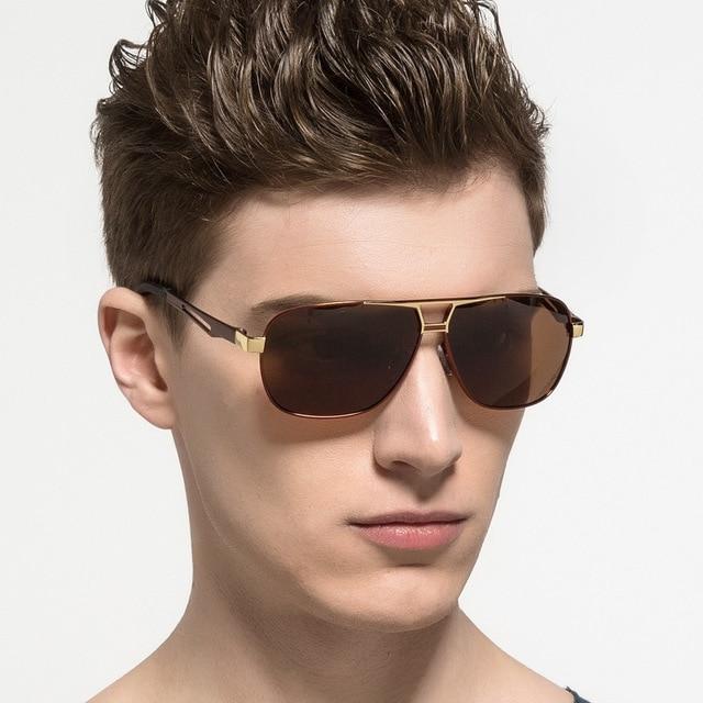 Gafas de sol polarizadas para hombre con marco de aleación de aluminio UV400 gafas de sol clásicas para hombre gafas de sol de buena calidad para hombre 3