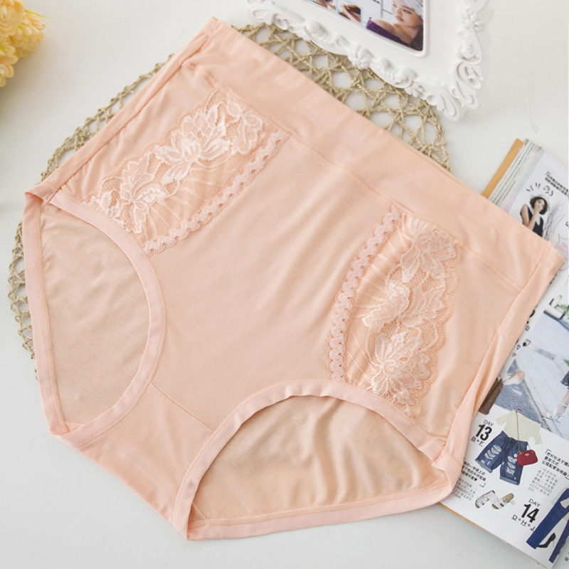 KL300 Comfortable Women Underwear Plus Size 6XL   Panties   Bamboo Fiber Lace Female Briefs High Waist   Panty   Soft Fabric