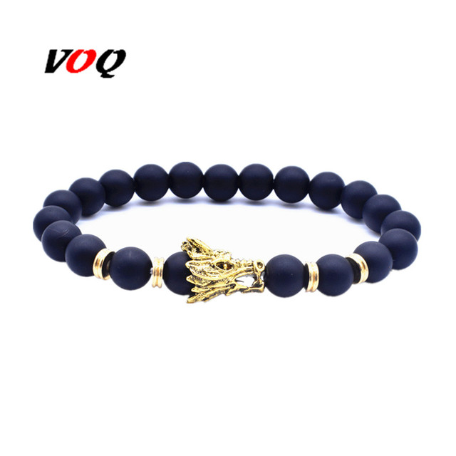 Whole Dragon Ball Bracelets For Women Men Elastic Rope 8mm Natural Stone Beads Bracelet Fashion Jewelry