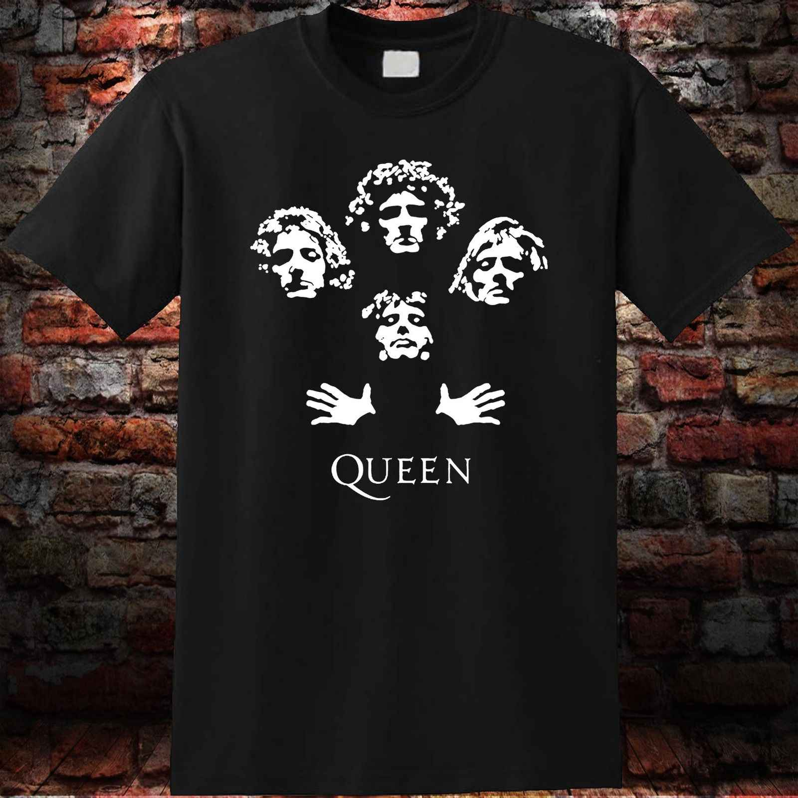3ede68d8 Detail Feedback Questions about Queen Rock Band Bohemian Rhapsody Freddie  Mercury Vintage Men's Black T Shirt Short Sleeve T Shirt Free Shipping on  ...