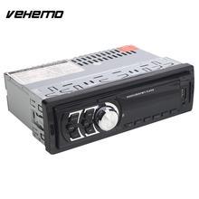 Vehemo Авто MP3 автомобиля Mp3 радио Поддержка SD USB 12 В Universal Travel aux вход приемника цифровых часов CD Премиум