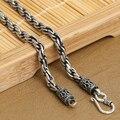 4 мм настоящее серебряное ожерелье 925 таиланд серебряный дизайнер старинные Neckace для подвеска