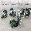 100% Оригинал Датчик Отпечатков Пальцев Признание части Для Samsung Galaxy Note 5 N920F Главная Кнопка Ключевые Шлейф Черный Белое Золото