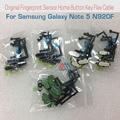 100% original peças de reconhecimento de sensor de impressão digital para samsung galaxy note 5 n920f botão tecla home flex cable black white ouro
