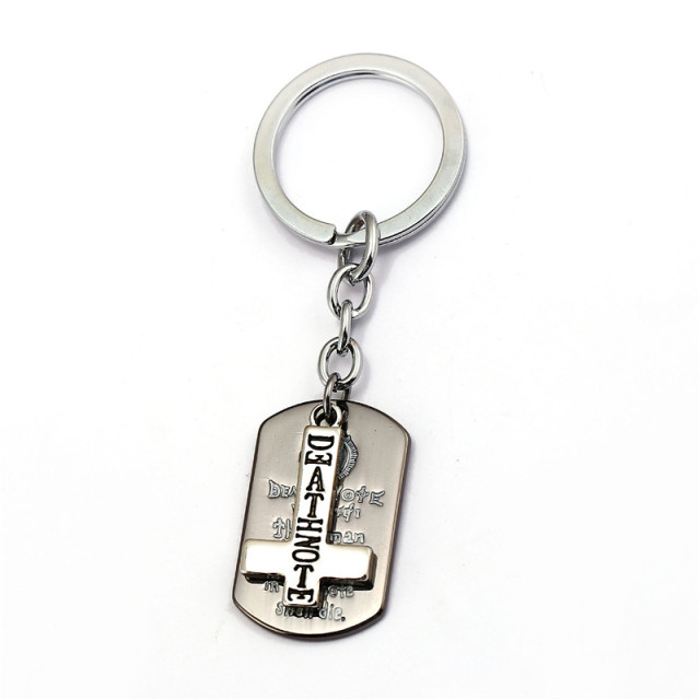 Death Note Key Chain Double L Logo Dog Tag