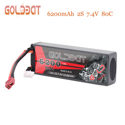 GOLDBAT RC Battery Lipo 6200mAh 7.4V Lipo Battery for RC Car 80C With Deans Plug For RC Car Truck Traxxas FPV Boat Helicopter