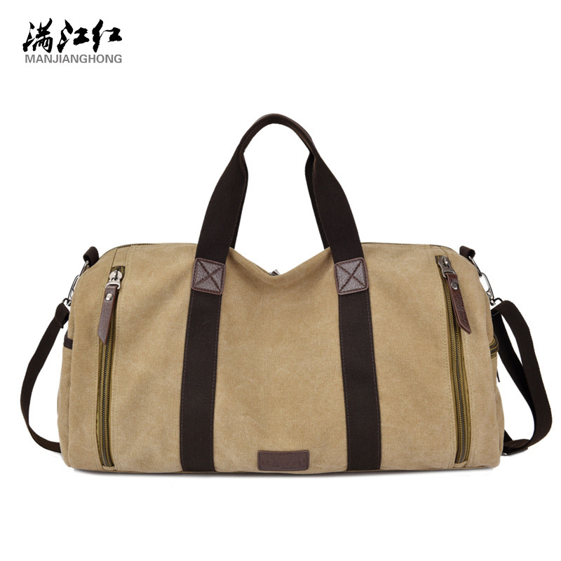 Men's Canvas Travel Totes Male travel Bag Canvas Casual Shoulder Bags
