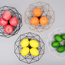 Nordic style Iron Art Fruit Storage Basket Home Organizer Bowl For Vegetable Snacks Candy Kitchen Table Dining Decoration Tool