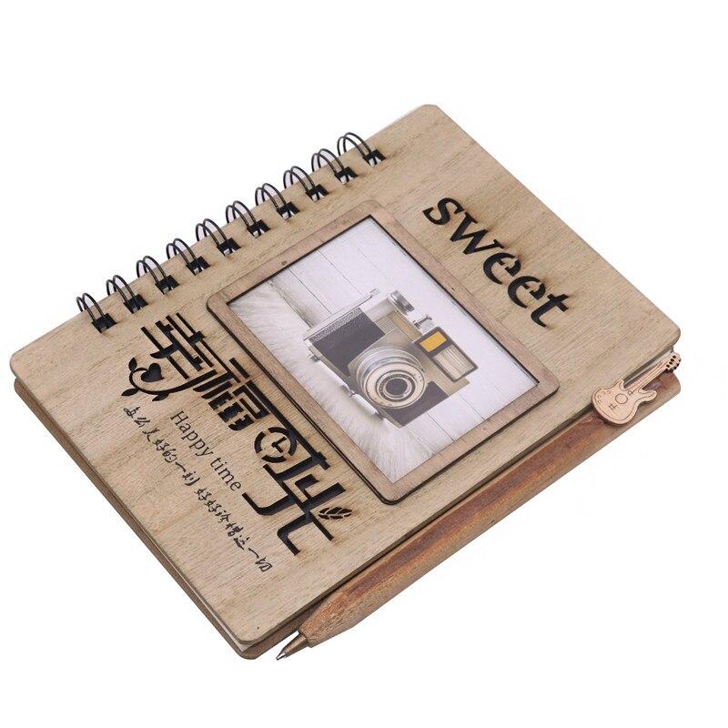 Notebooks DemüTigen 1 Stücke Hard-seitige Notebook Vintage Fotoalbum Tagebuch 38 Blätter 76 Seiten 180*160mm Schreiben Pads Büro Schule Liefert Eine VollstäNdige Palette Von Spezifikationen