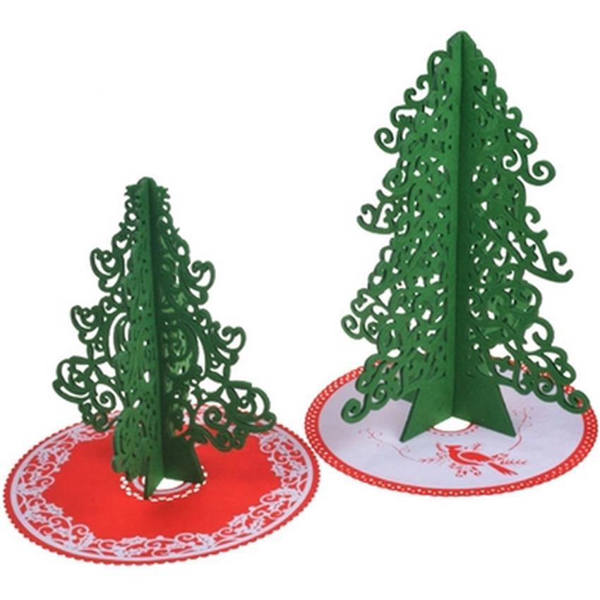 rboles de navidad con falda del rbol rboles de navidad de fieltro de pelo de