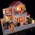 Творческий рождественский подарок на день рождения присутствует DIY ручной работы большой деревянный дом вилла мечта кукольный дом 3D головоломки для любителей детей