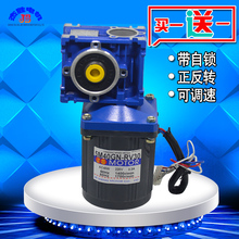 AC 220V 40W Variable Speed Motor Single-Phase Motor Low Speed Positive Reversal Worm Gear Deceleration Small Motor ac 220v 40w with rv30 worm gearbox high torque regulated speed worm gear motor drive motor rolling shutters motor