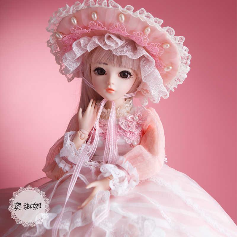 18 60 cm Boneca brinquedos de Alta Qualidade Chinesa Boneca BJD BJD Conjunta Ball Joint Boneca Fashion Girl Presente Olinna