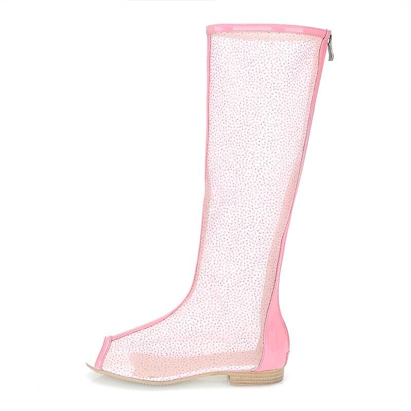 10 d11723 Hasta Original Abierta Zapatos Talla 4 Altas d11722 Atractivas De Rosa Negro Mujer La Uu Intención 5 Rodilla Ee Animadas Blanco Punta D11721 Botas 4SwqRw
