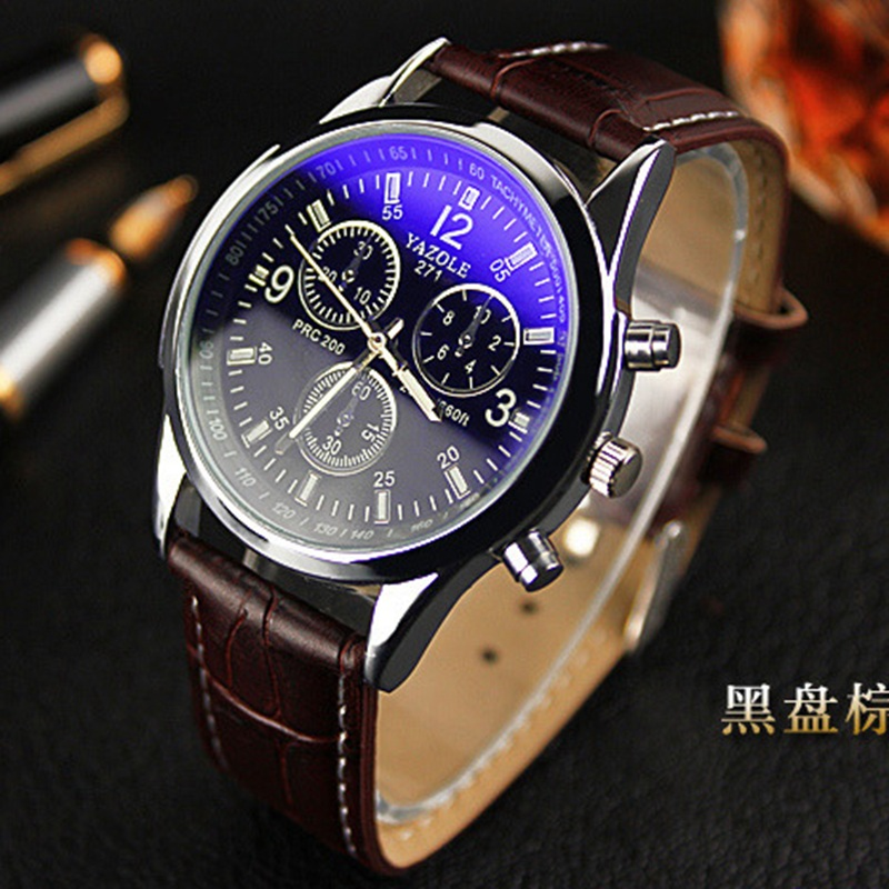 relogio male New listing Yazole Men watch Luxury Brand Watches Quartz Clock Fashion Leather belts Watch Cheap Sports wristwatch new arrivals remote touch wall switch uk standard 1 gang 1way rf control light crystal glass panel china
