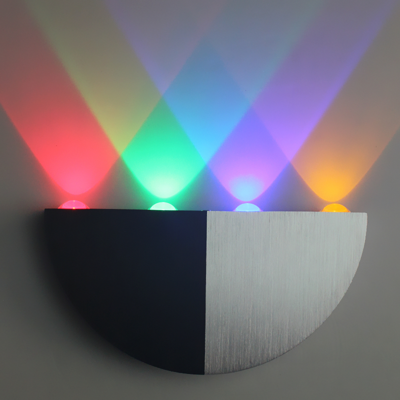 Rainbow Morden wall mounted led wall sconce Aluminum 4*3w Different ...
