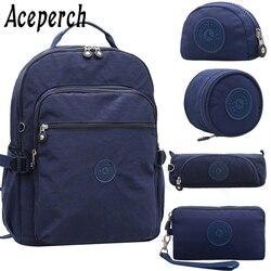 ACEPERCH Girl School Original Backpack For Teenage Girl Waterproof Mochila Feminina Mujer Women Solid Laptop Travel Bagpack Bag