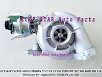 터보 GT1544V 762328 762328-5002 S 762328-0001 CITROEN C2 C3 C4 C5 DS3 09-PEUGEOT 307 308 4008 508 DV6C DV6TED4 1.6L HDi
