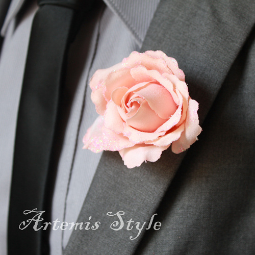 online shop rose boutonniere simple style artificial flowers