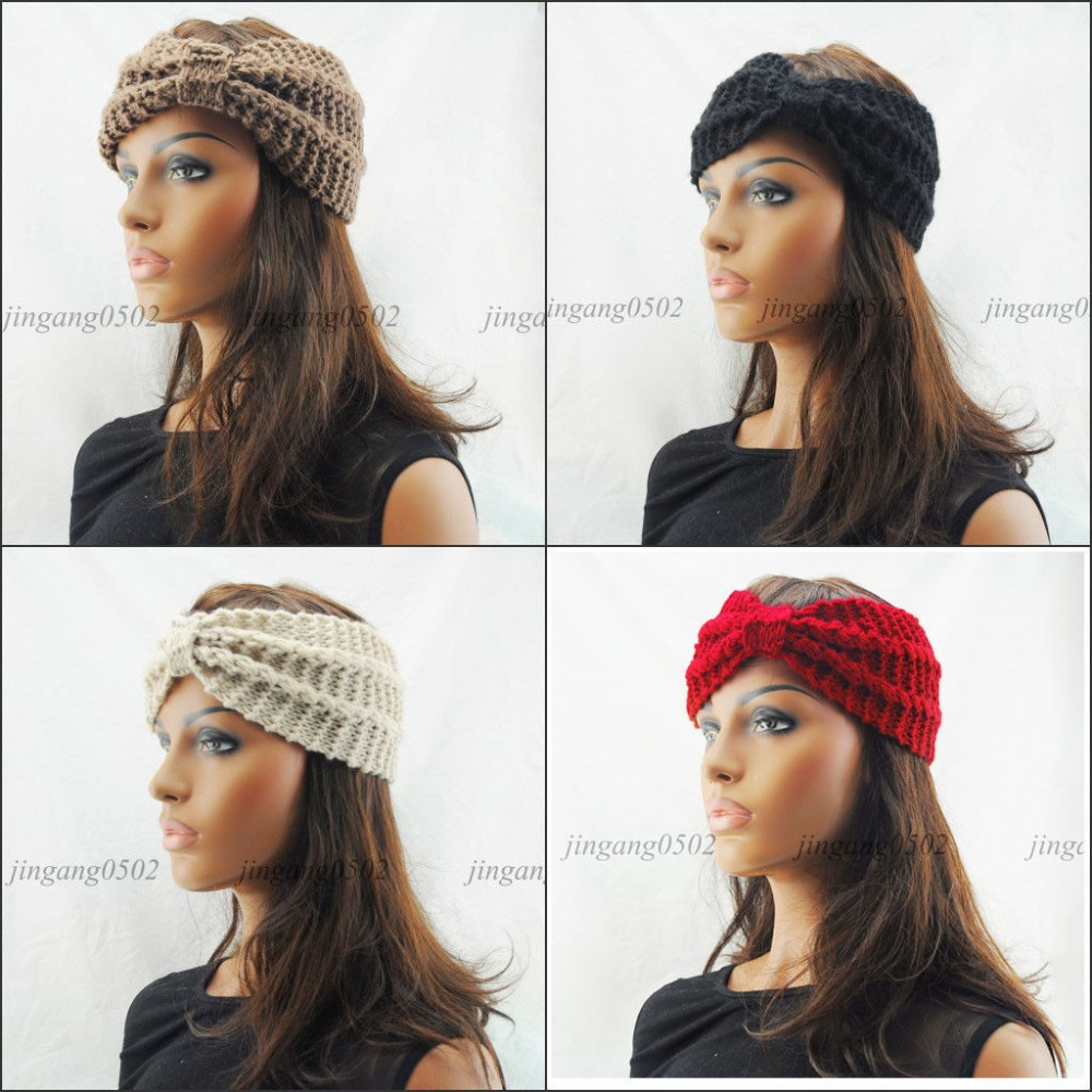 new turban crochet twist bandeau tricot hiver femmes nou bande de cheveux oreilles chapeaux. Black Bedroom Furniture Sets. Home Design Ideas