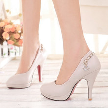 Large Size33-43 women shoes 2016 New Fashion Style High Heels Pumps Hot Sale black big size shoes woman pumps lady zapatos mujer