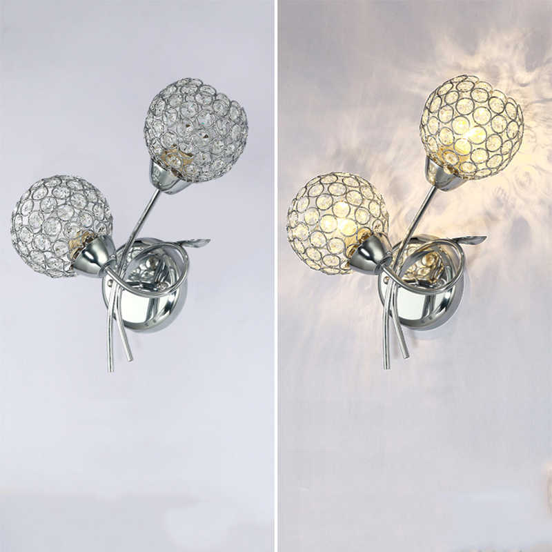 Современные европейские покрытием двойной головкой Большой Настенный светильник светодио дный E27 220 В Творческий настенные светильники для гостиной спальня ресторан для ванной