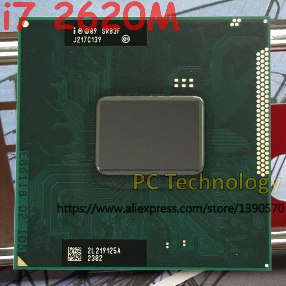 Original Intel core CPU I7 2620M 2 70GHz 4MB Dual Core SR03F I7 2620M FCPGA988 laptop