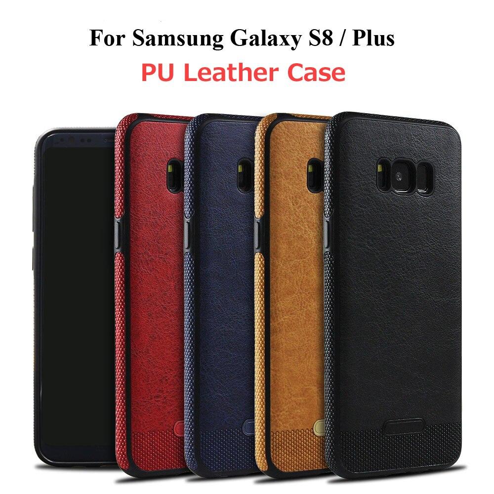 Для Samsung Galaxy <font><b>S8</b></font> Plus кожаный чехол Роскошные Бизнес Мягкие силиконовые pu кожа задняя крышка для Samsung <font><b>S8</b></font> тонкий Коврики телефонные чехлы