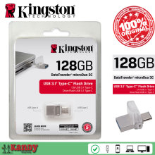 Kingston OTG Тип C usb 3.0 3.1 flash pen drive 16 ГБ 32 ГБ 64 ГБ 128 ГБ Смартфон Mac cle usb stick flash bellek personalizado