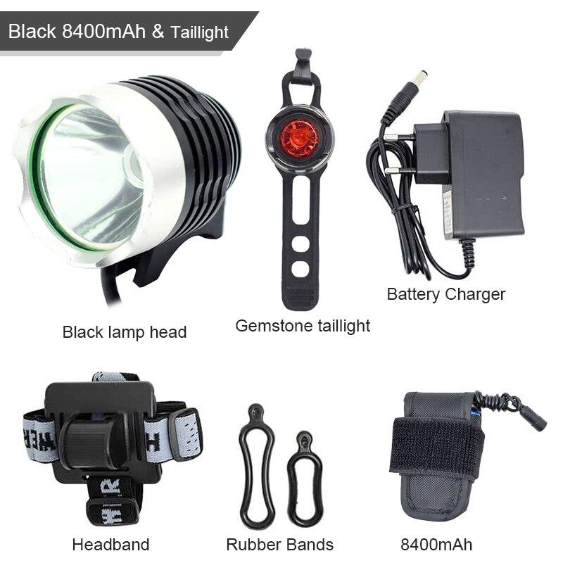 Waterproof XM-L T6 Led Bike Lights 2000 Lumen Bicycle Light Head Lamp Cycling Accessories Flashlight For Bike+battery Pack