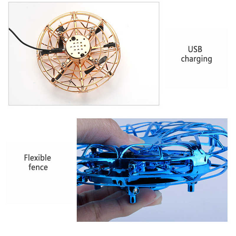 طائرة مروحية RC الطائرة السحرية UFO الطائرة التعريفي لعبة إلكترونية صغيرة التعريفي بدون طيار ألعاب أطفال كهربائية