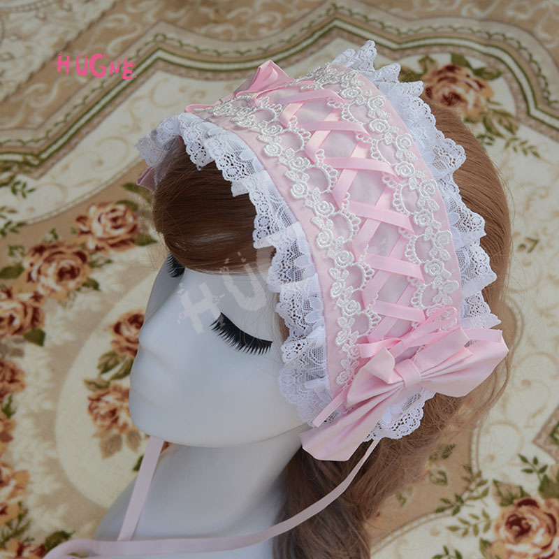 Sweet-New-Lolita-Lace-Headband-Pink-Blue-White-Black(4)
