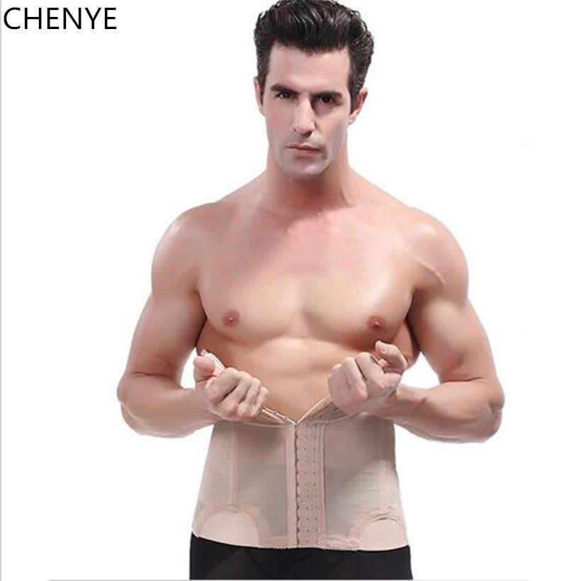 26005a8032c06 ... tongguo shaper male waist trainer steel bone vest body shaper tummy  belt weight loss corset belly ...