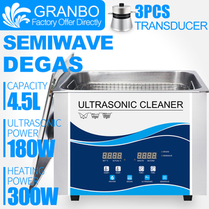 Image 1 - Granbo 4L 4.5L 180W Digital Ultrasonic Cleaner With DEGAS SEMIWAVE  Heating Cleaning Medical and Dental Clinic Hardware