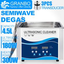Granbo 4L 4.5L 180W Digitale Ultrasone Reiniger Met DEGAS SEMIWAVE Verwarming Schoonmaken Medische en Tandheelkundige Kliniek Hardware