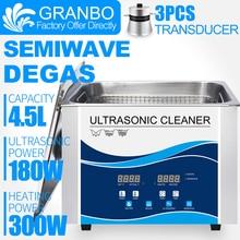Granbo 4L 4.5L 180W הדיגיטלי אולטרסאונד עם דגה SEMIWAVE חימום ניקוי רפואיים שיניים מרפאת חומרה