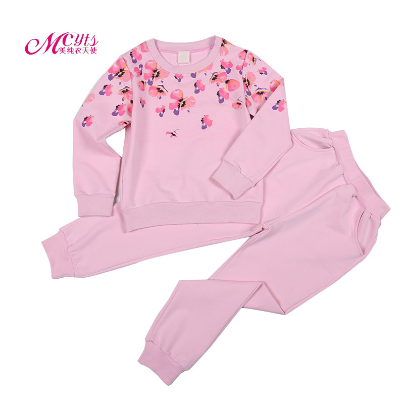 Girls Clothing Sets Spring Fall New 2017 Floral Girls Clothes Sports Suit Children Tracksuit Kids Clothes 4 6 8 9 10 11 12 Years 4 5 6 7 8 9 10 11 12 13t girls clothes set spring long sleeve shirt pant girls sports suit 2pcs print toddler girls clothing