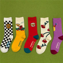 KingDeng Ankle Aesthetic Socks Cute Summer Short Harajuku Korean Style Women funny Sock Fashion Design Splice Streetwear Vintage