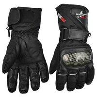 Leather Gloves Motorbike Motorcycle Gloves Winter Waterproof Windproof Protective Gear Sports Racing Motocross Moto Gloves Luvas