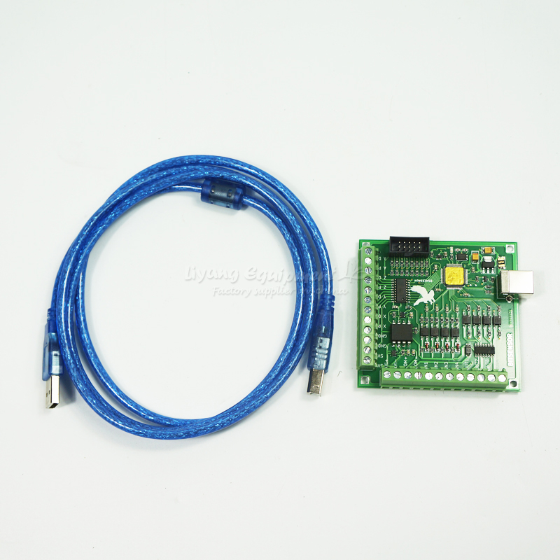 MACH3 USB Motion Controller card breakout board for CNC Engraving 4 Axis 100KHz breakout board for CNC router 4 axis usb mach3 motion control card cnc controller card four axis breakout interface board for cnc router