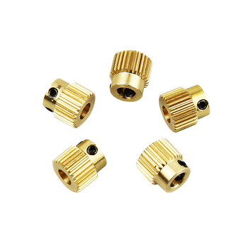 цена на 2PCS Anet 3D Printer Parts Extrusion Wheel Special Brass Wire Feed Wheel 26 Tooth Gear for Extruder filaments