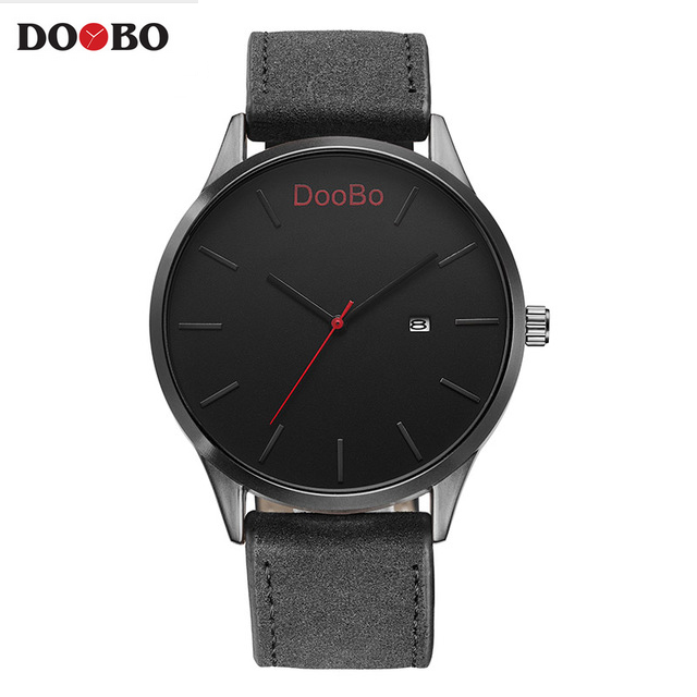 DOOBO Top brand Luxury Brand Simple Quartz Sport Watches Men Military Casual Leather Fashion Watch Men's Relogio Masculino