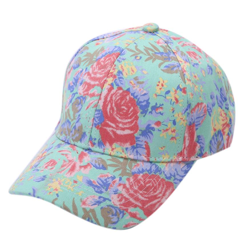 # Vestido 2019 Deporte Flower Cotton Baseball Cap Boys Girls Snapback Hip Hop Flat Hat17