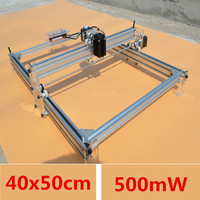 Mini DIY Desktop Blue Laser Engraving Engraver Machine 40X50CM 500mW Wood Router Cutter Printer Power Adjustable