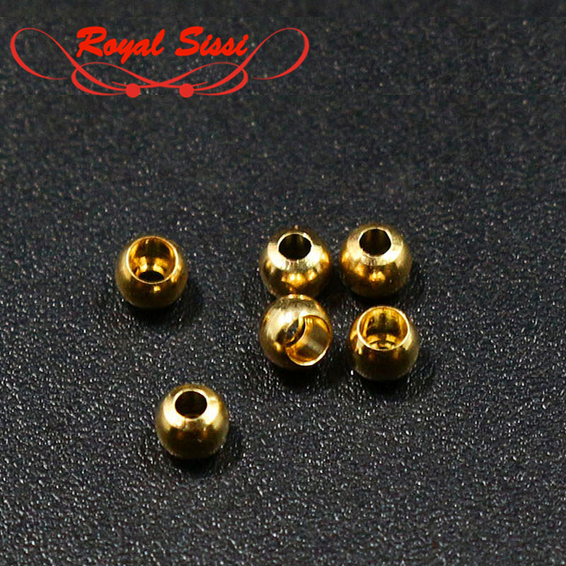 40pieces/set Fly 2/2.5/3.5mm Brass Beads Hooks Head For Nymph Streamer Bugs Head Eyes Fly Fishing Tying Materials Accessories