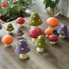 Zakka Mushroom forest series Resin small place Desk Decoration rural Home Decor Photography Props Crafts F 3pcs/lot