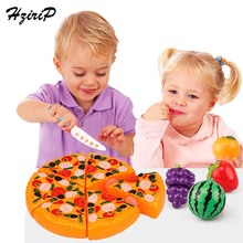 HziriP 17CM Kitchen Toys Pretend Play Pizza Food Safety Plastic Kids Boys Girls Early Educational Classic Toy