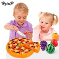HziriP 17CM Kitchen Toys Pretend Play Pizza Food Safety Plastic Kids Boys Girls Early Educational Classic Toy Free Shipping