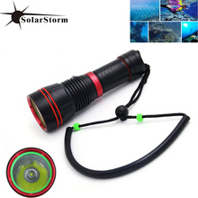 Solarstorm D03 XM-L2 U2 LED Diving Flashlight 850LM Underwater 50M Waterproof 26650 18650 Diver Torch Lamp Flash Light(China)